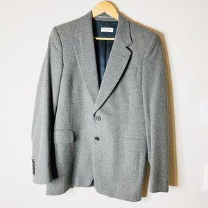 New Dries Van Noten Gray Wool Blazer Jacket